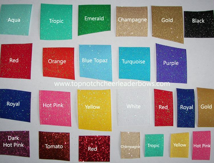 Glittered Grosgrain Color Chart